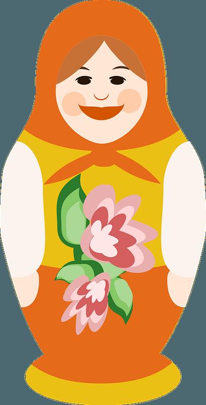 Matryoshka Doll Clipart   Matryoshka doll illustration, Matryoshka doll,  Doll drawing