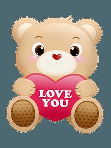 Teddy Bear holding heart clipart