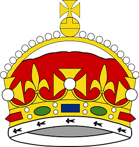 Crown of George Prince of Wales clipart