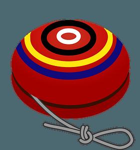 Red Striped Yo-Yo clipart