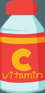 Bottle of Vitamin C clipart