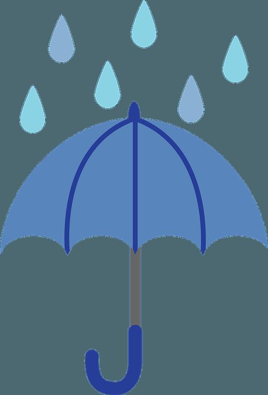 Umbrella in the Rain clipart. Free download transparent ...