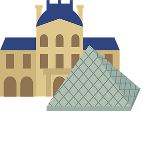 Louvre Museum Pyramid clipart