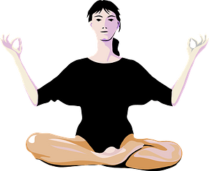 Woman Doing Yoga clipart