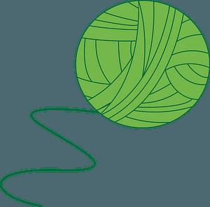 Green Ball of Yarn clipart