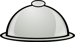 Serving plate with lid clipart