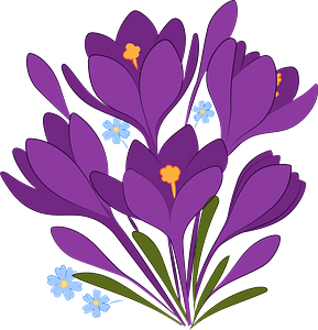 Spring flowers clipart