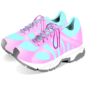 Couple of sneakers clipart