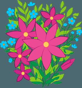 Flowers bouquet clipart