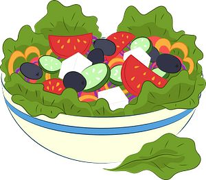 Greek salad clipart