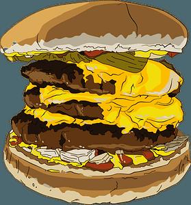 Triple Cheeseburger clipart