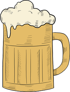 Mug of beer clipart