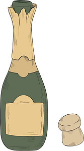 Champagne bottle clipart