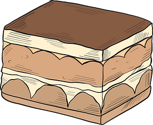 Chocolate dessert clipart