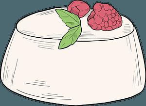 Raspberry dessert clipart