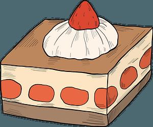 Strawberry dessert clipart