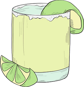 Margarita cocktail clipart