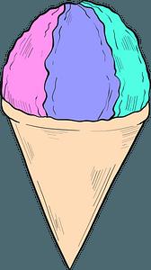 Snow cone clipart