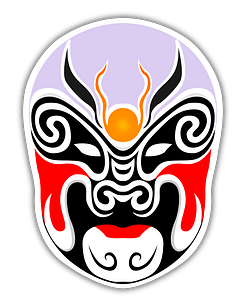 Chinese Theater Masks clipart