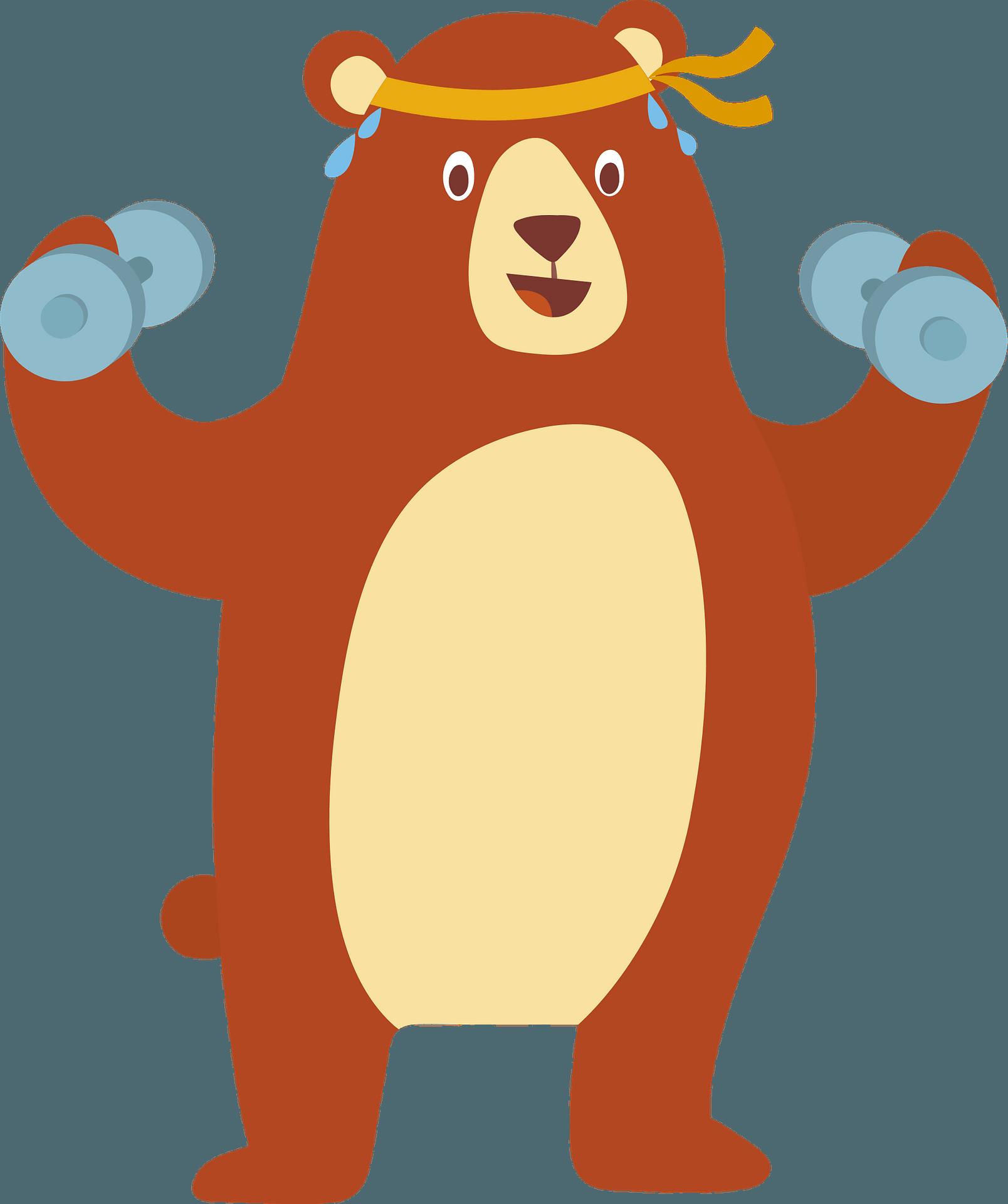 Bear Do Exercises Clipart Free Download Transparent Png Creazilla