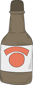 Bottle of alcohol clipart