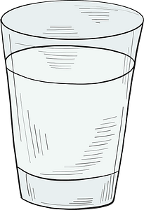 Glass of alcoholic drink clipart