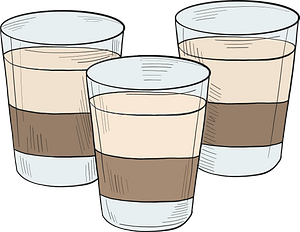 Glasses of alcoholic drink clipart