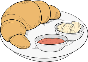 Croissant for breakfast clipart
