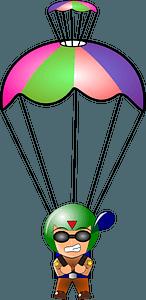 Paratrooper Chibi clipart