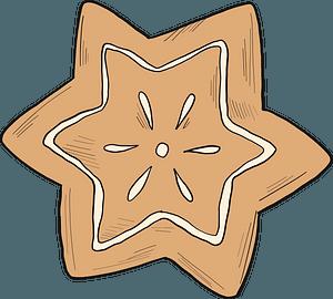 Gingerbread star clipart