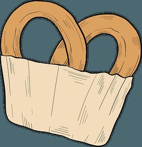 Pretzel clipart