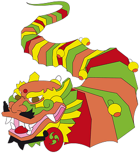 The Year of the Dragon clipart