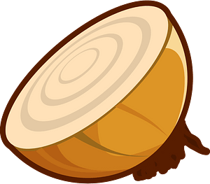 Cut Onion clipart