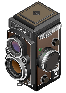 Twin-Lens Reflex Camera clipart