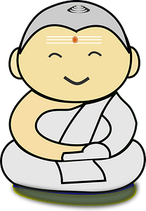Smiling Buddha clipart
