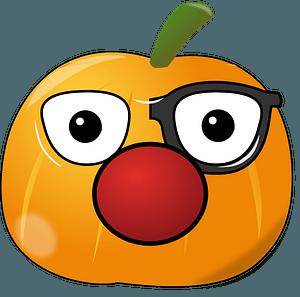 Clowny Pumpkin clipart