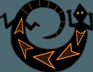 Black Lizard clipart
