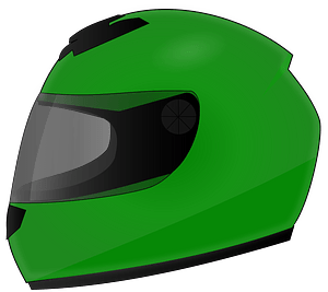 Green Motorcycle helmet clipart