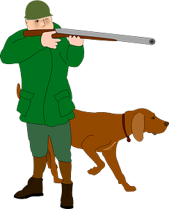 Hunter and Dog clipart