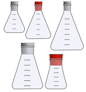 Erlenmeyer Flasks with Stoppers clipart