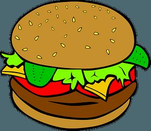 Fast Food, Lunch-Dinner, Hamburger clipart
