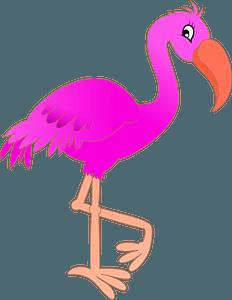 Neon Pink Flamingo clipart
