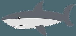 Shark - Grayscale clipart