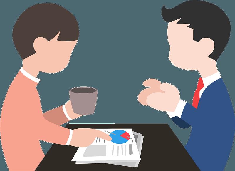 Conversation on the Job clipart