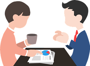 Conversation on the Job clipart