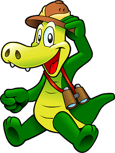Smiling Alligator on Safari clipart