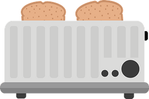 Toast Popped Up in the Toaster clipart