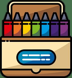 Crayon box clipart