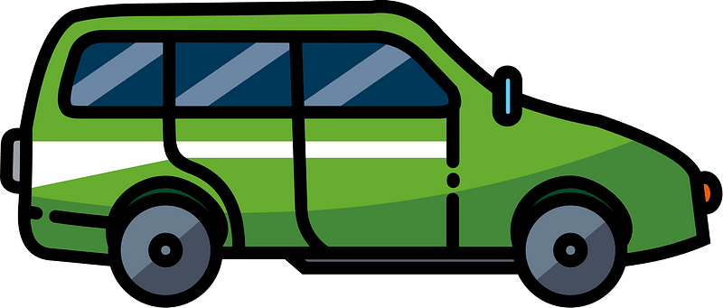 Station wagon clipart