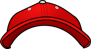 red Baseball Cap - Front View clipart